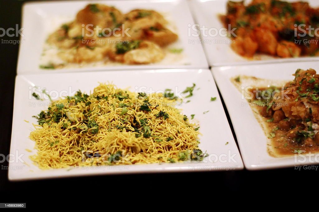 Sev puri bombay chaat royalty-free stock photo