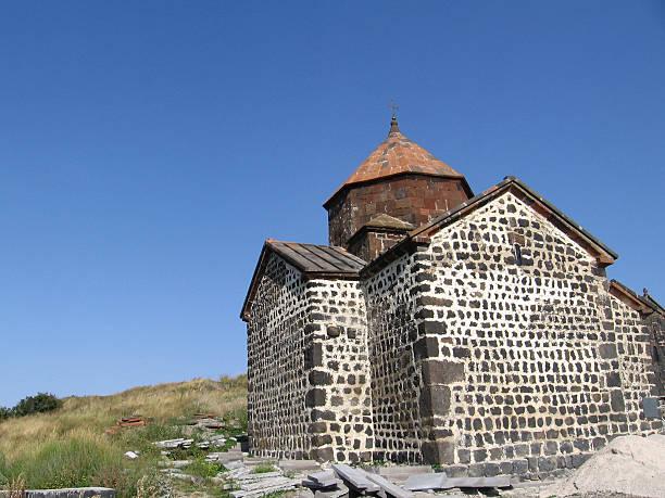 Sevan monastery stock photo