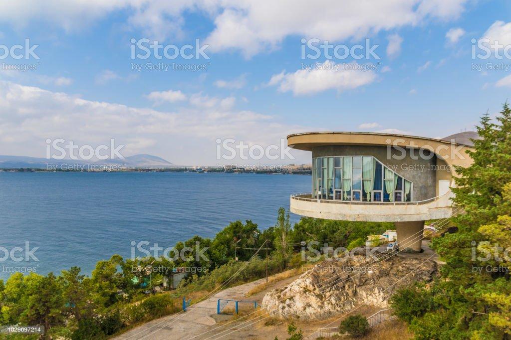 Sevan Writer House, Armenia stock photo