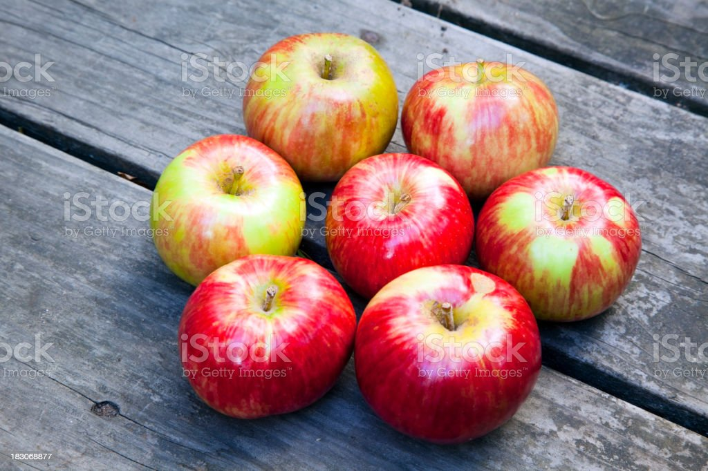 Seven Apples stock photo