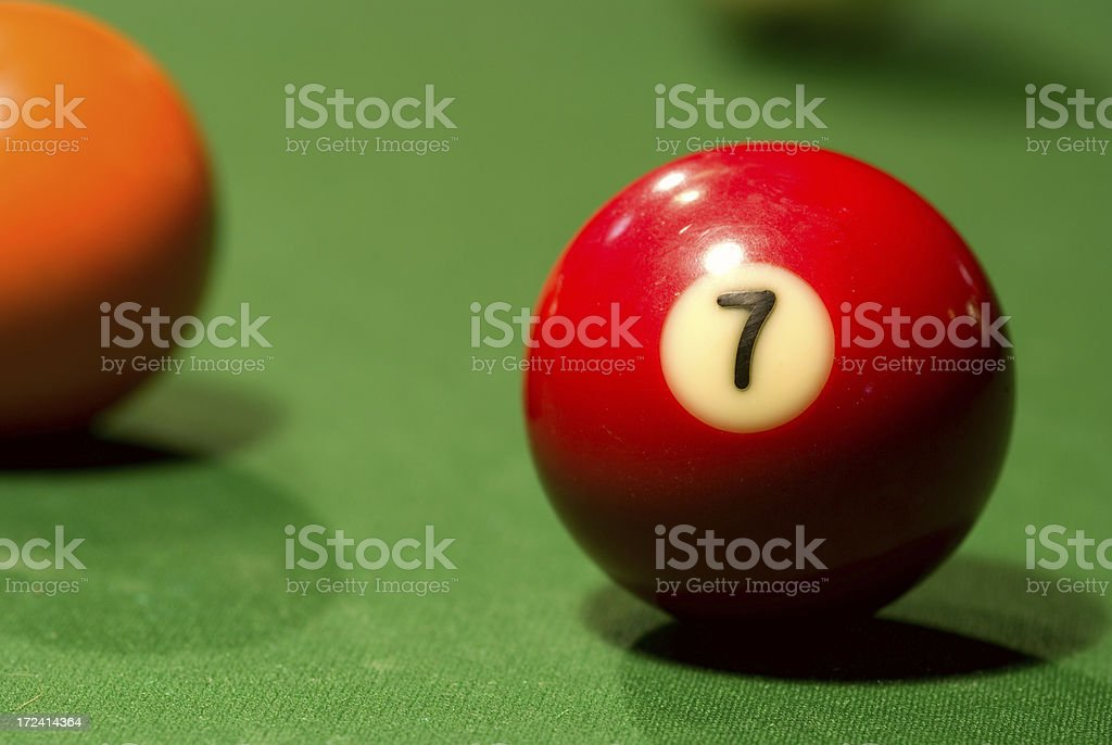 Seven Ball royalty-free stock photo
