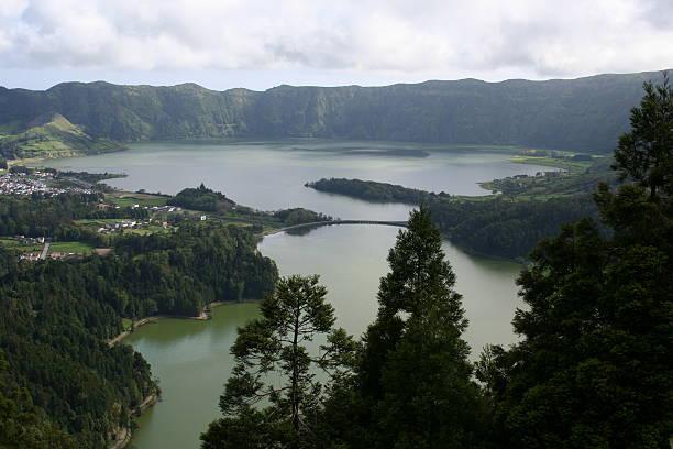 Sete Cidades, Azores stock photo