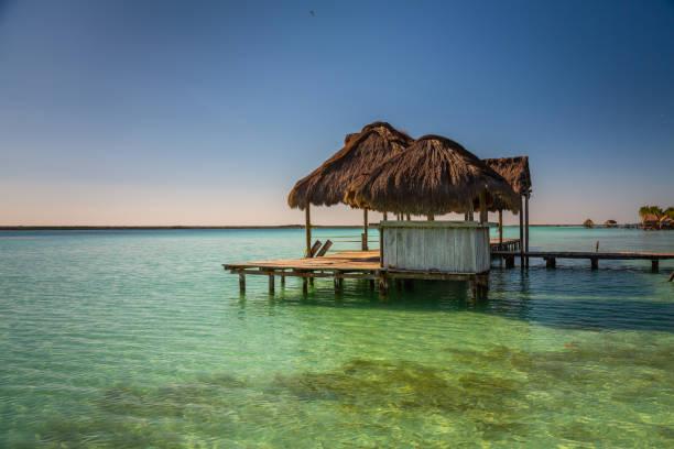 Sieben farbene Lagune in Bacalar – Foto