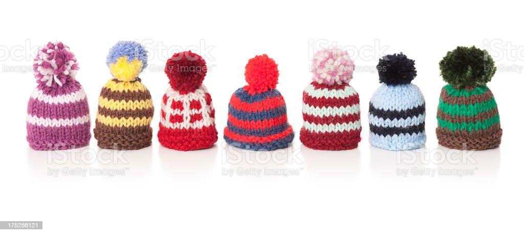Sept des bonnets de laine - Photo