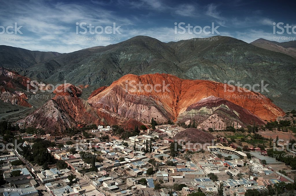 seven coulours mountain stock photo