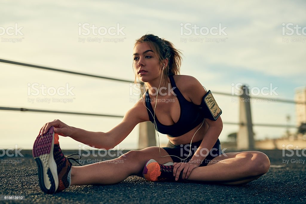 Seven days without exercise makes one weak stock photo