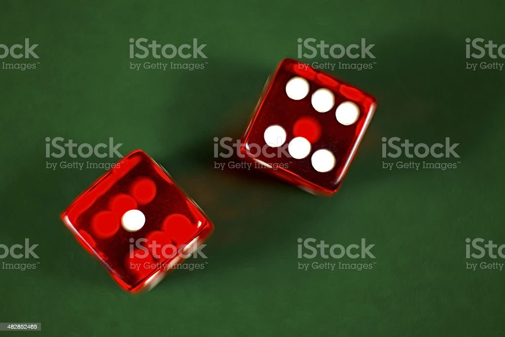 seven dice stock photo