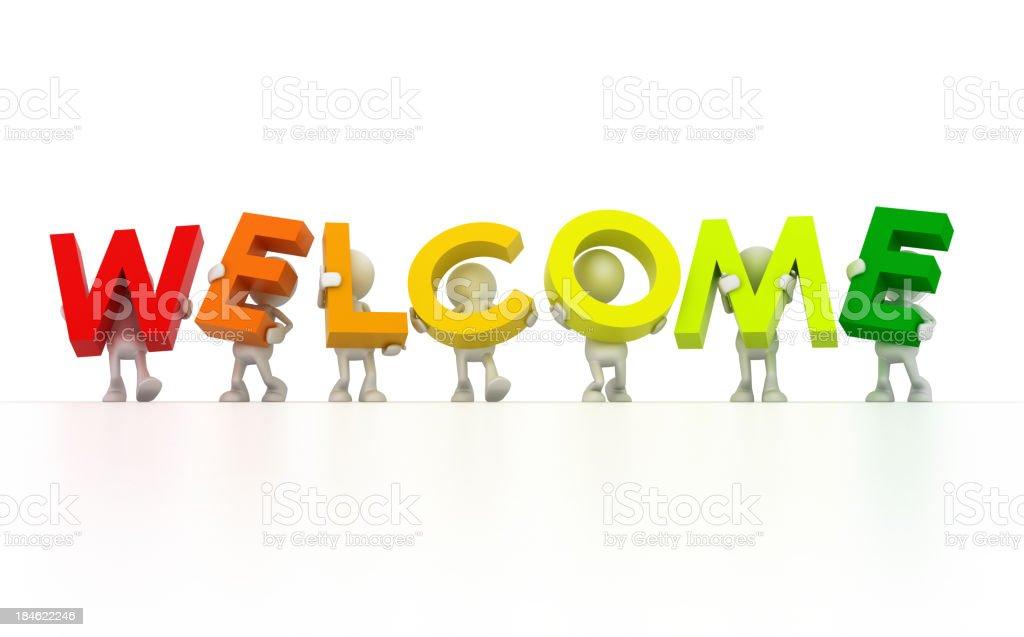 Il benvenuto - foto stock