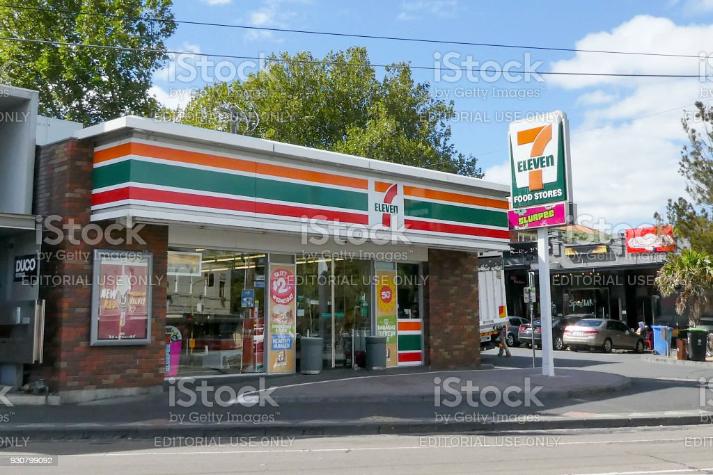 7-Eleven convenience store in the Melbourne suburb of St Kilda....