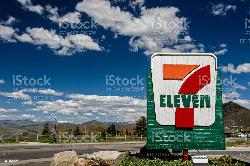 Seven Eleven stock photo