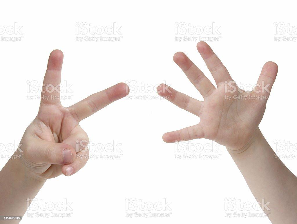 7 つの指 - 1人のロイヤリティフリーストックフォト