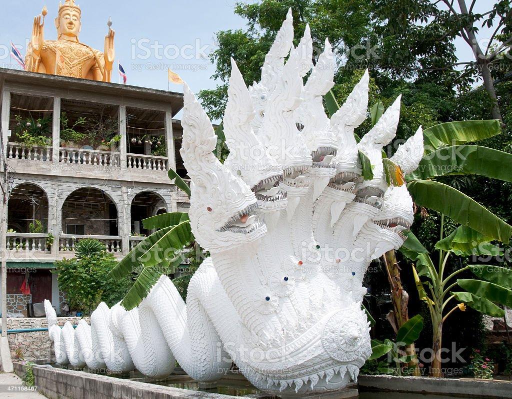 Seven Headed Naga Statue royalty-free stock photo