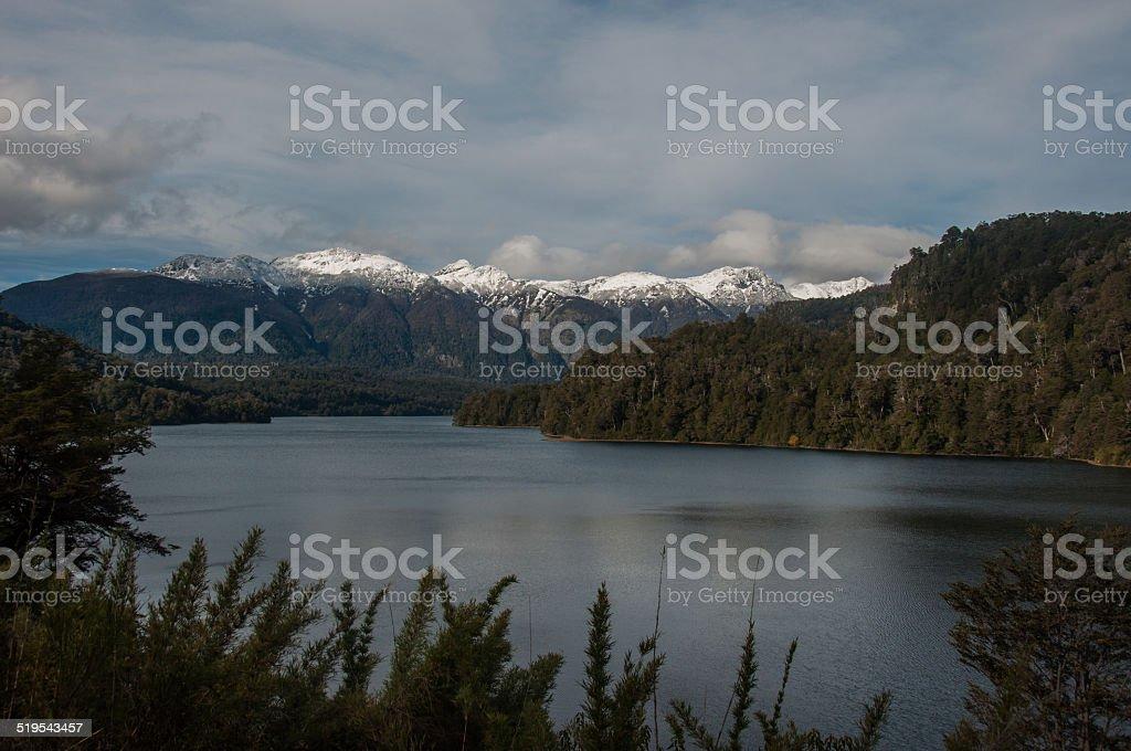 Seven lakes road in Villa la Angostura, Argentina stock photo