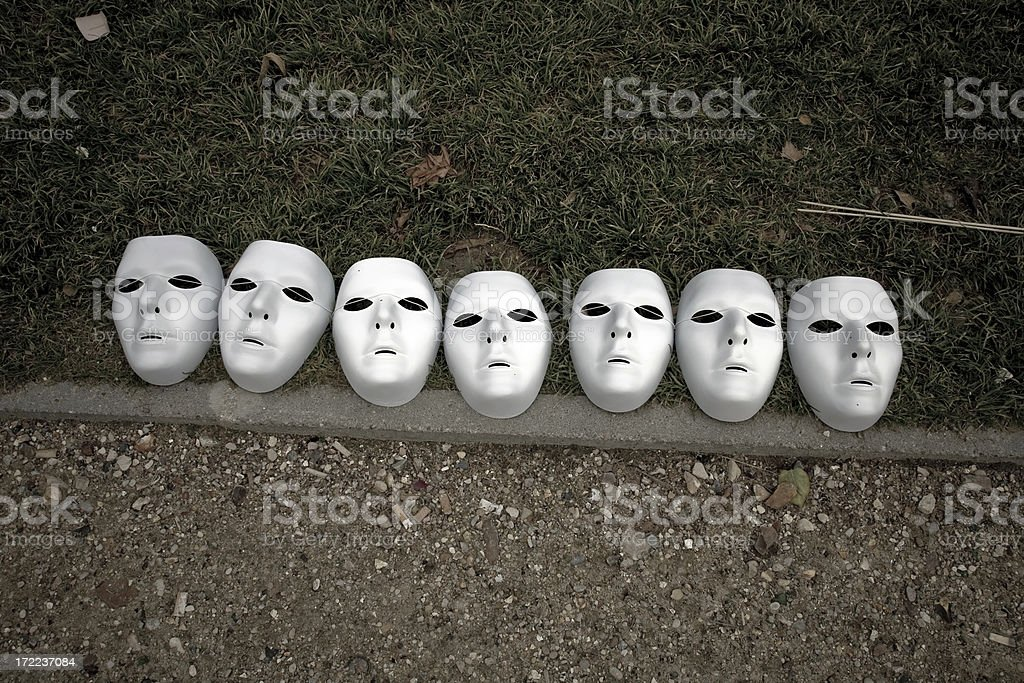 sept masques stock photo
