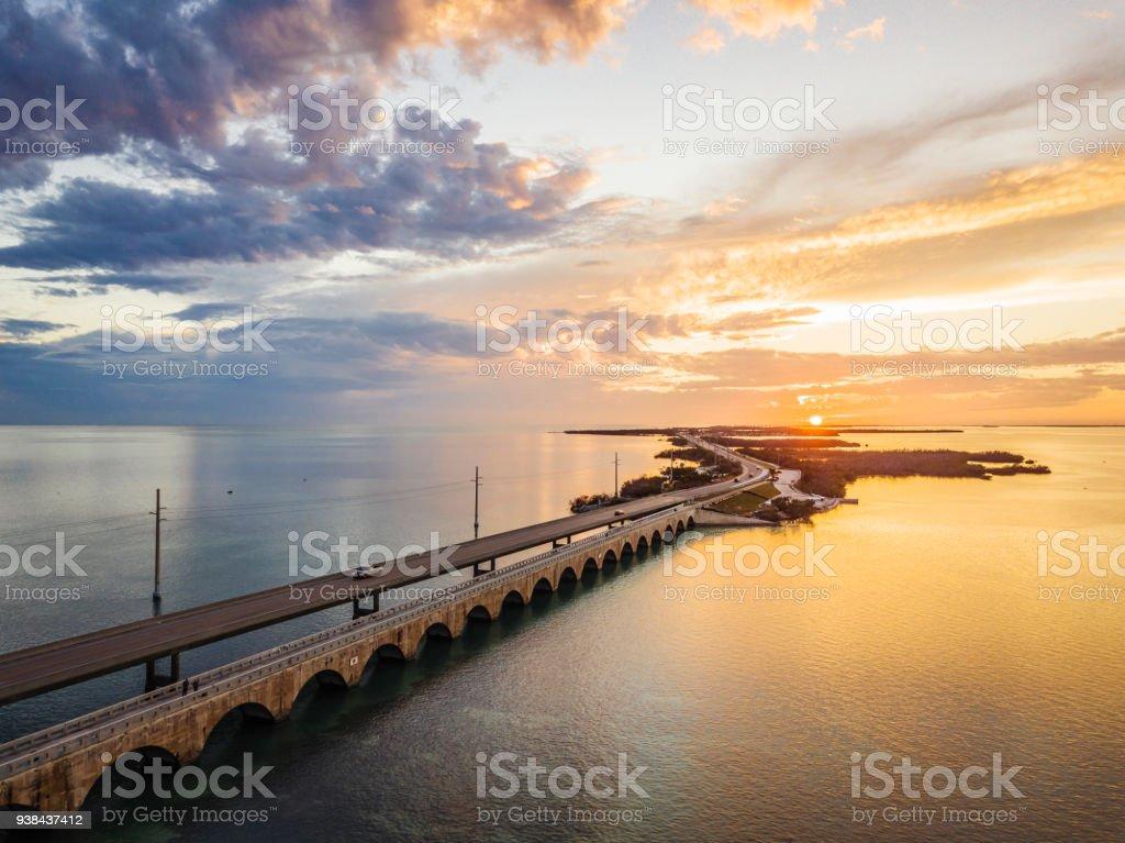 Seven Mile Bridge in den Florida Keys – Foto