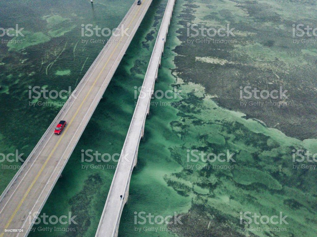 Seven Mile Bridge in Florida Keys stock photo