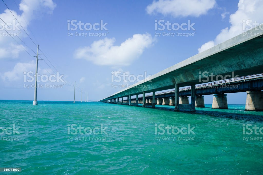Seven Mile Bridge, Key West photo libre de droits