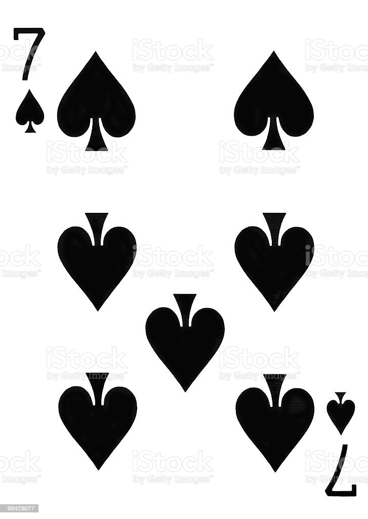7 spade card game  Seven Of Spades Playing Card Stock Photo - Download Image ...