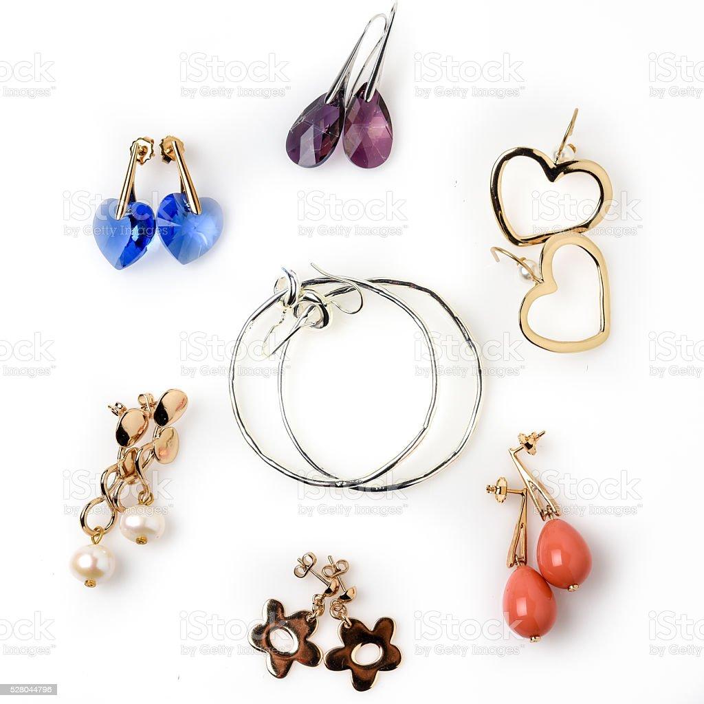Seven pendants stock photo