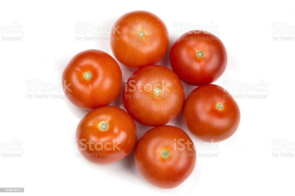 Seven Red Tomatoes royalty-free stock photo