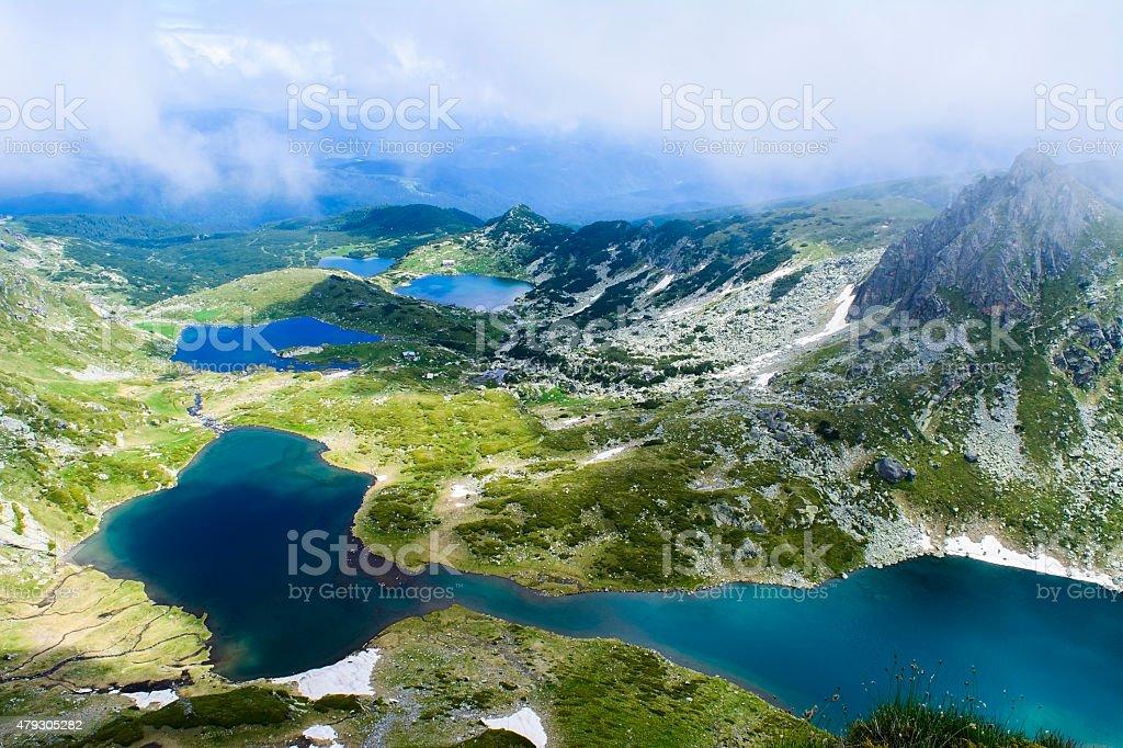 Seven Rila Lakes View stock photo