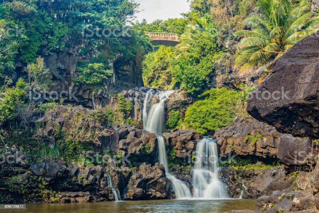 Seven Sacred Pools Maui stock photo