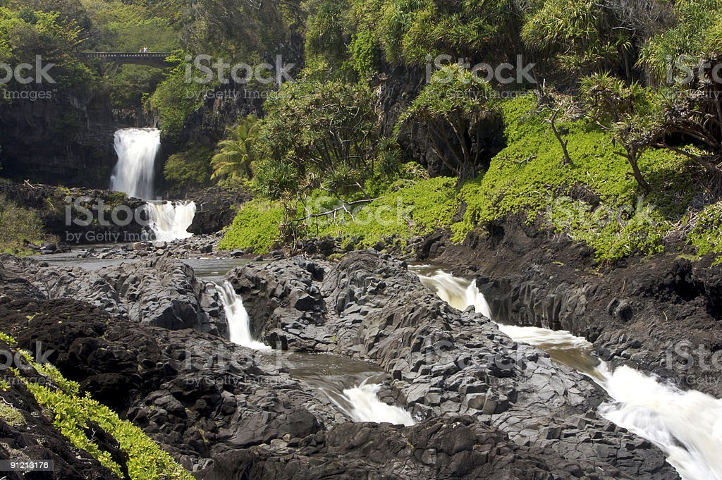 Seven Sacred Pools royalty-free stock photo