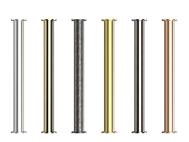 sete tons de tubos de metal - cromo metal - fotografias e filmes do acervo
