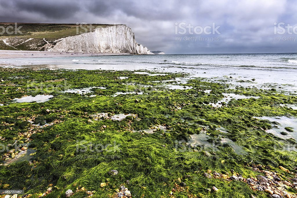 Seven Sisters at Birling Gap, England stock photo