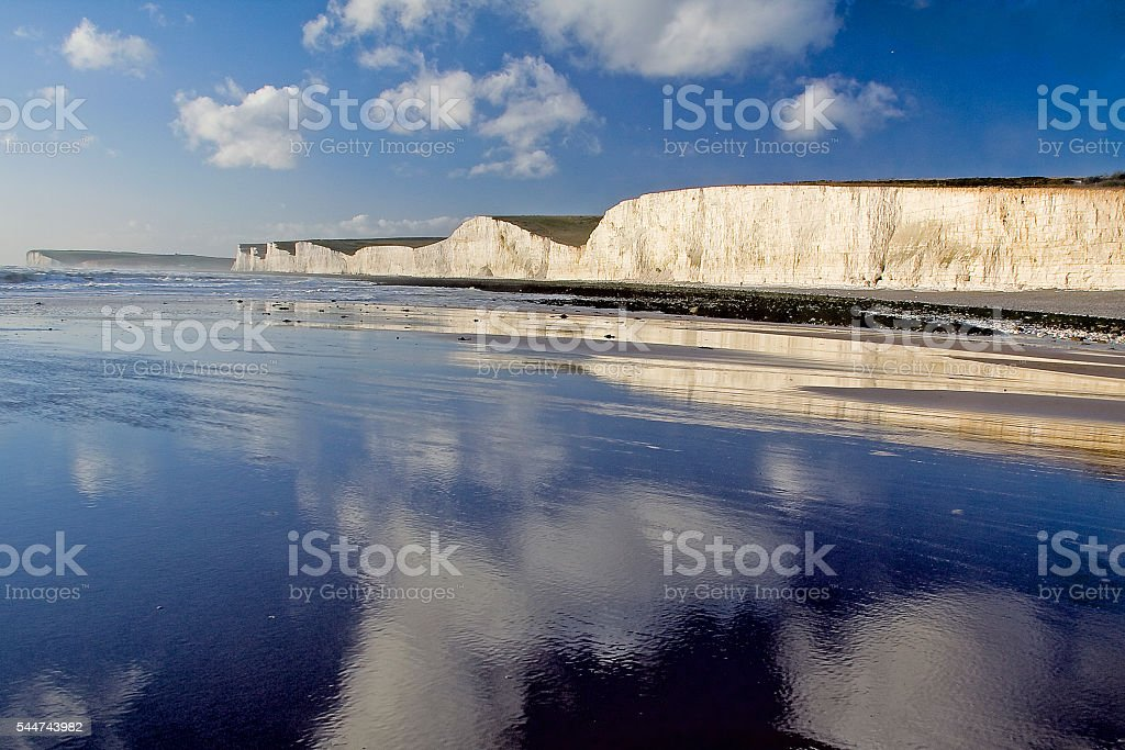 Seven Sisters at Birling Gap stock photo