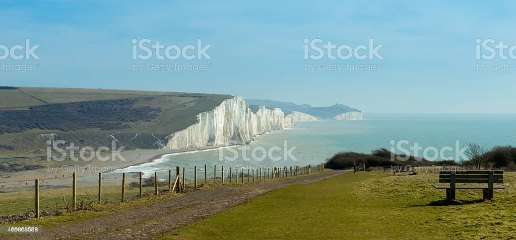 Seven Sisters Cliffs, England stock photo