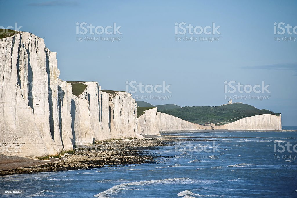 Seven Sisters Cliffs South Downs England landscape stock photo