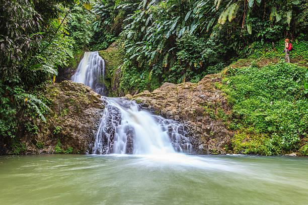 Seven Sisters Falls, Grenada W.I. stock photo