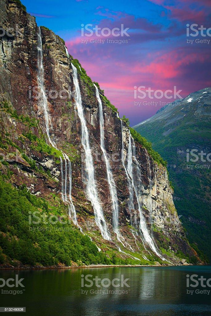 Seven Sisters Falls stock photo