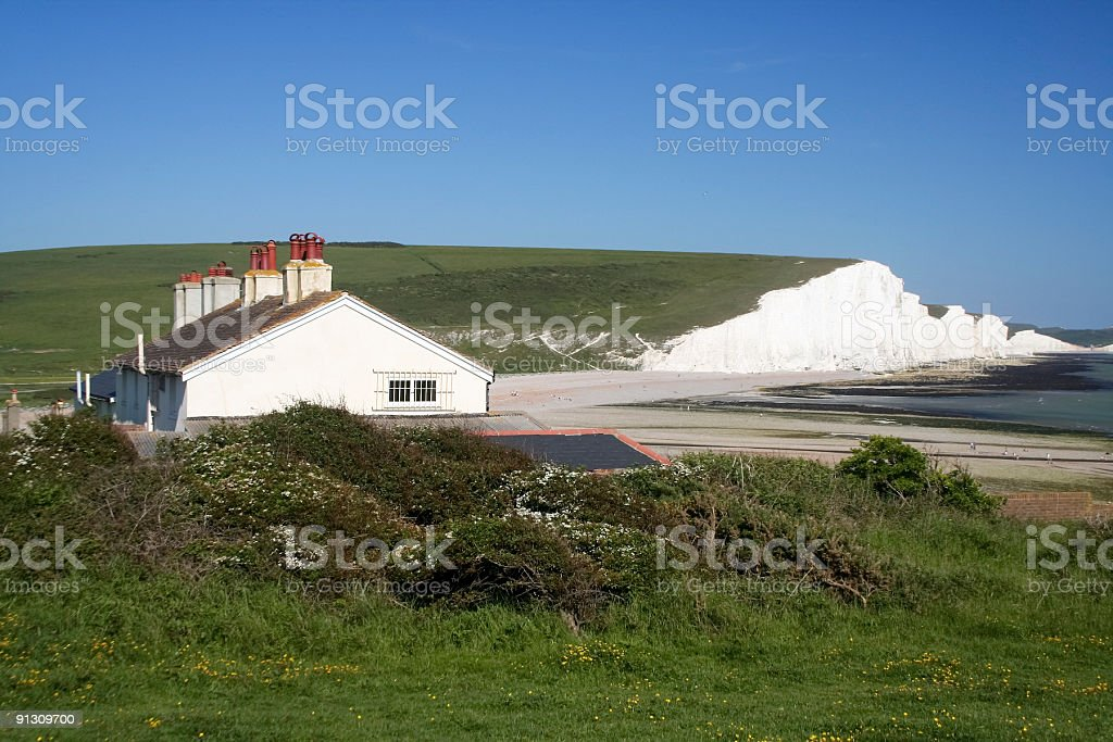 Seven Sisters in East Sussex, England royalty-free stock photo