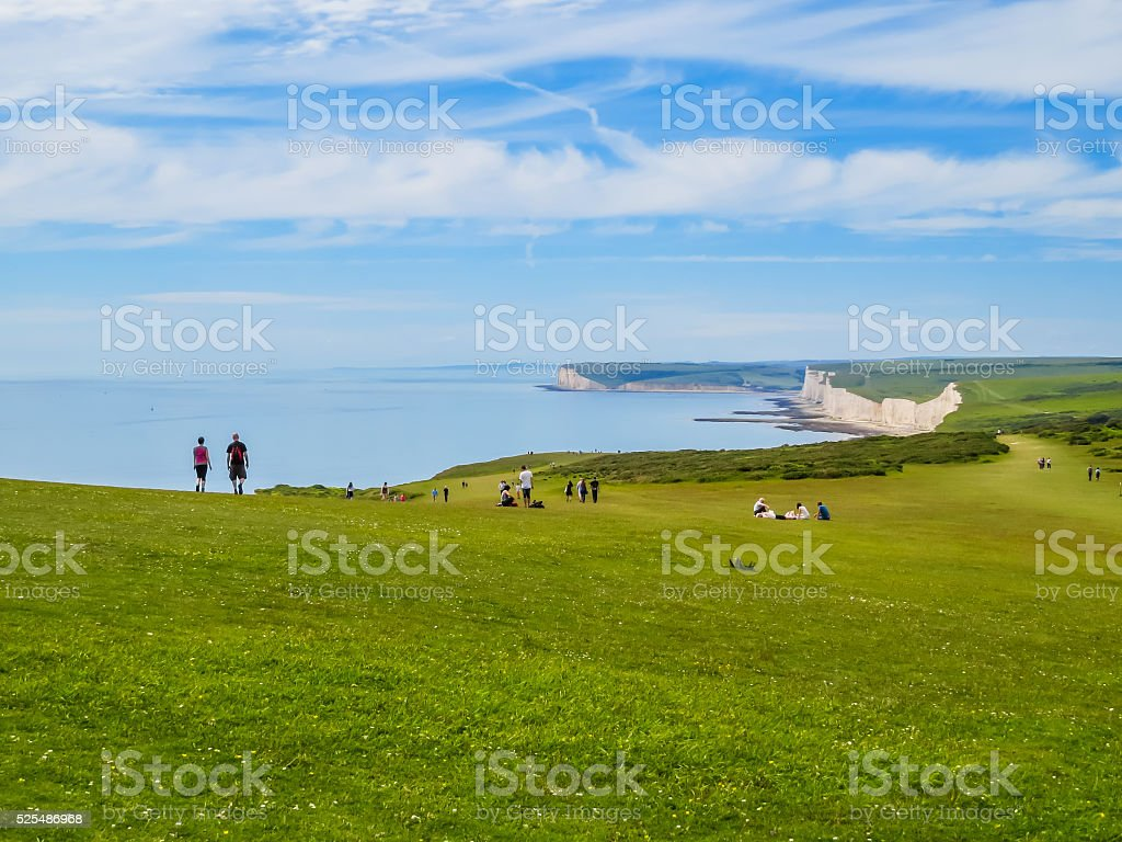 Seven Sisters National Park, East Sussex, England stock photo