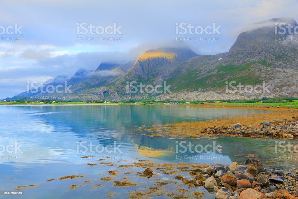 Seven Sisters, Norway stock photo