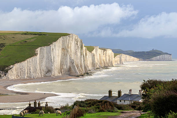 seven sisters - east sussex stockfoto's en -beelden