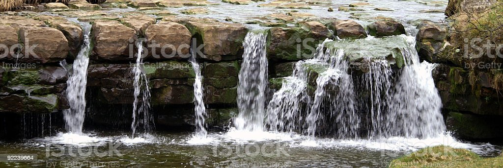 Seven sisters waterfall, Gossipgate, Cumbria royalty-free stock photo