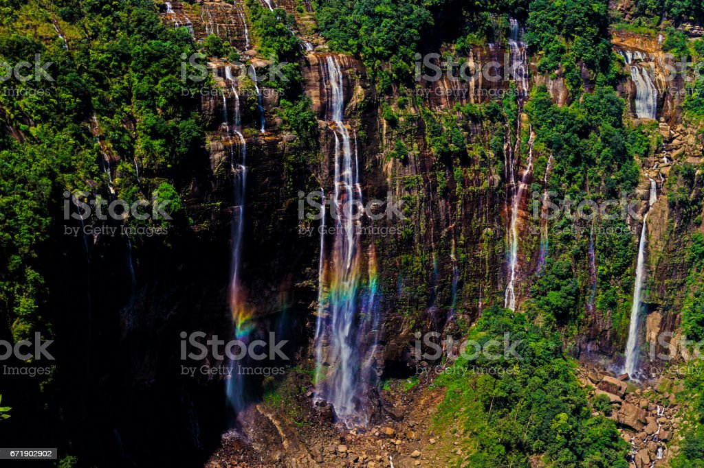 Seven Sisters Waterfall stock photo