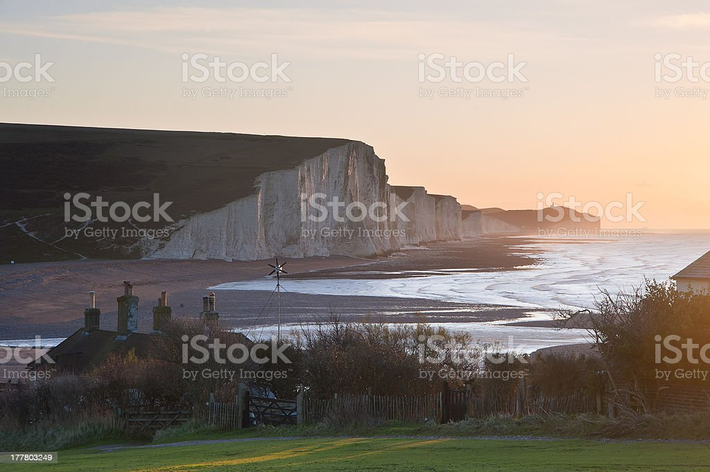 Seven Sisters Winter sunrise royalty-free stock photo