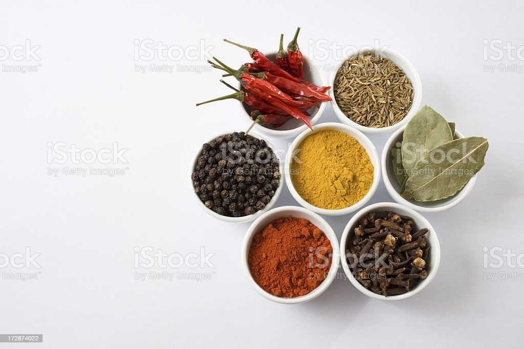 Seven spices stock photo