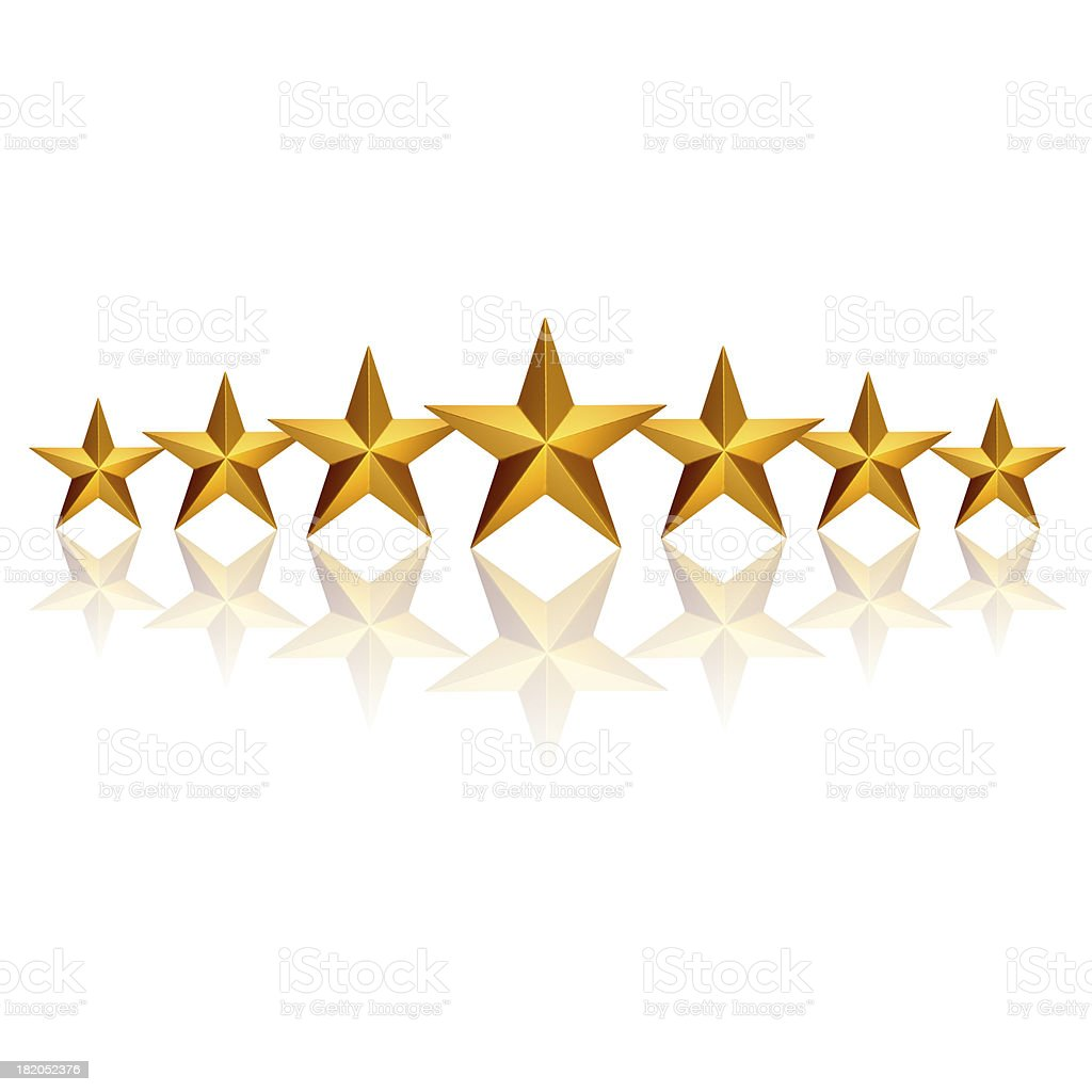 Seven Stars royalty-free stock photo
