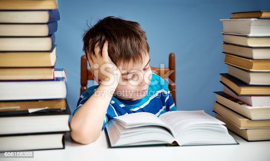 683105722 istock photo seven years old child reading a book 656158388