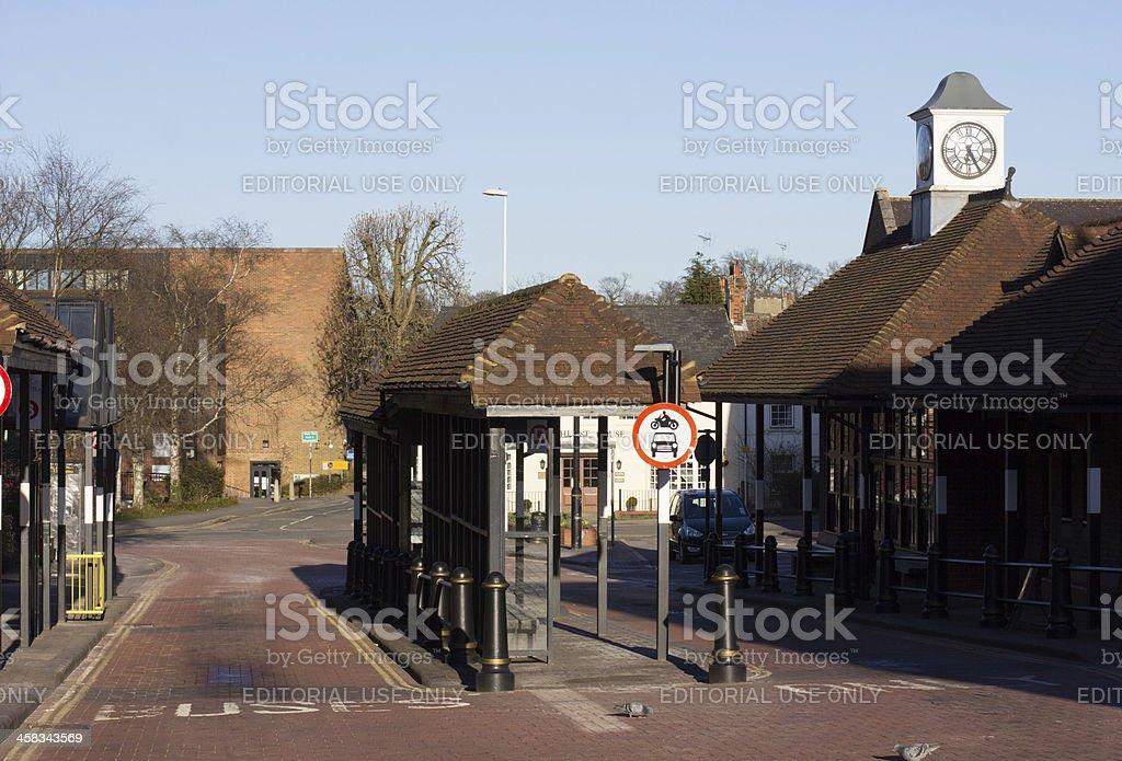 Sevenoaks Bus Station in Kent, England royalty-free stock photo