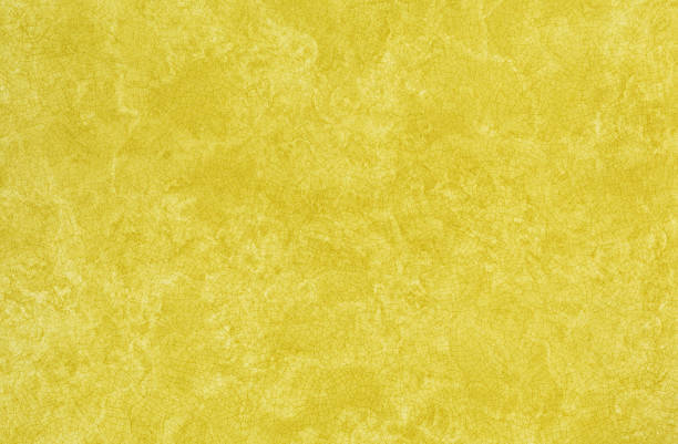 Seventies era Harvest Gold Plastic Laminate Kitchen Counter Top stock photo