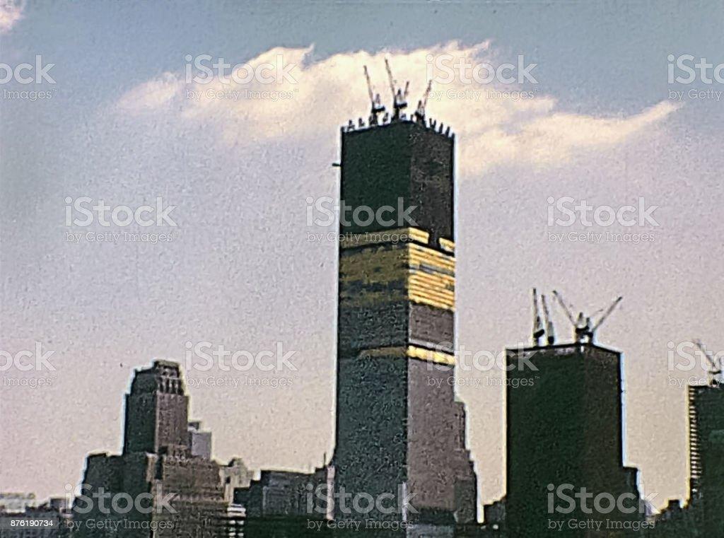 seventies Twin Towers stock photo