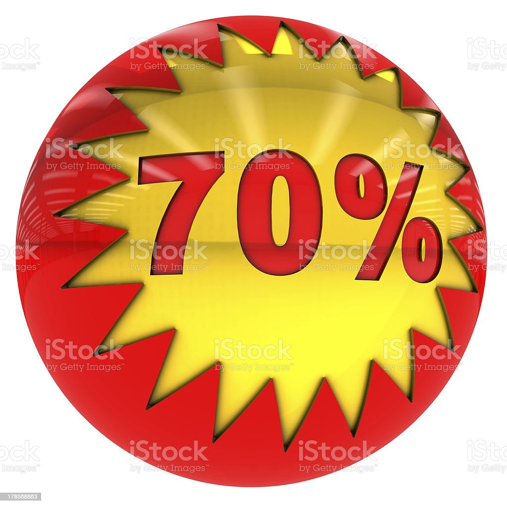 Seventy percent ball royalty-free stock photo