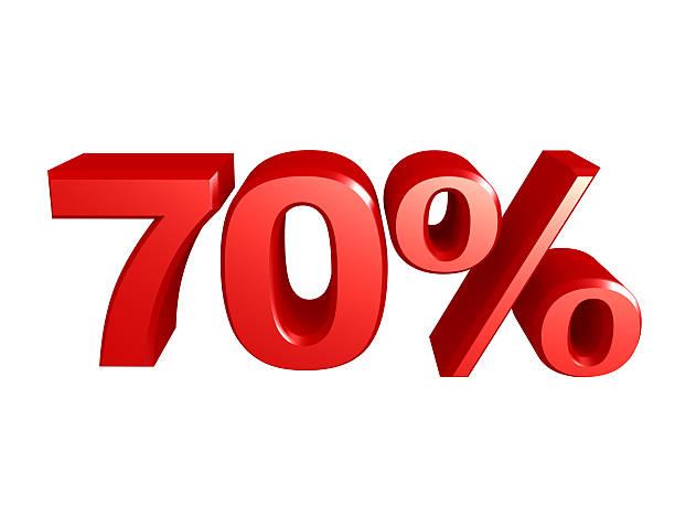 Icône de 70 pour cent - Photo