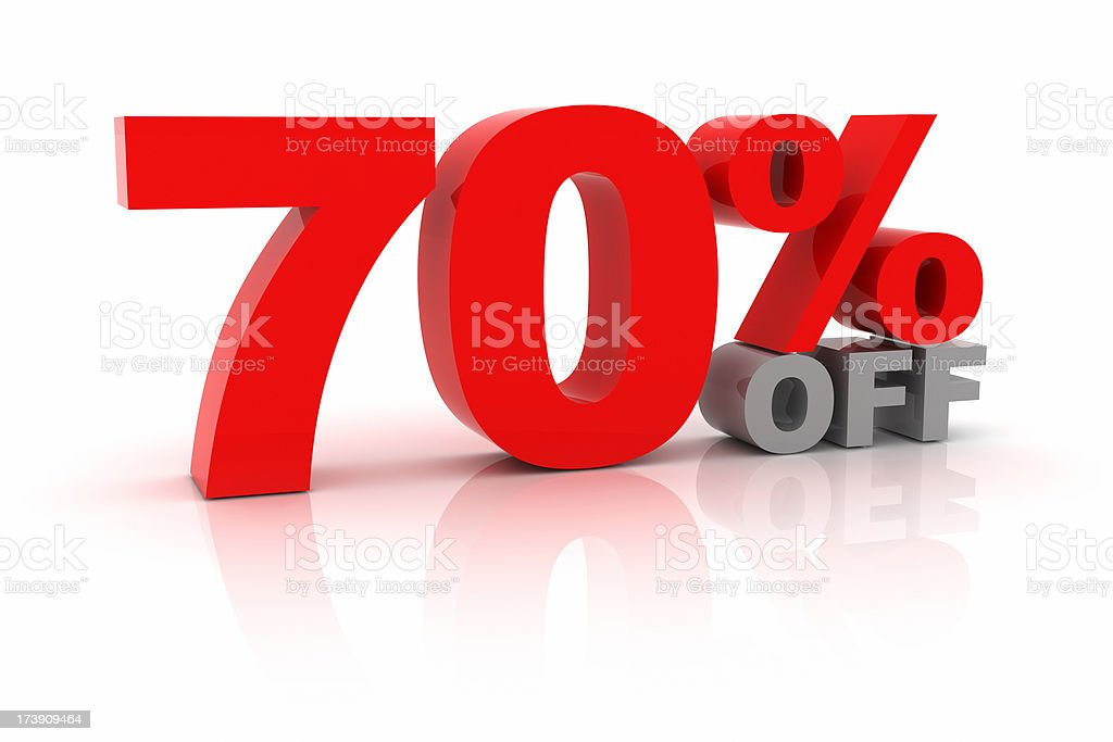 Seventy Percent Off royalty-free stock photo